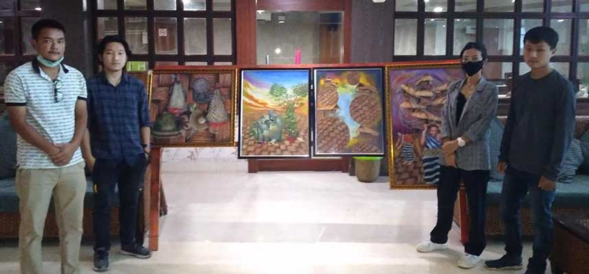Arunachal: Painting Exhibition 'Avante Garde' held at Hotel Pybbs