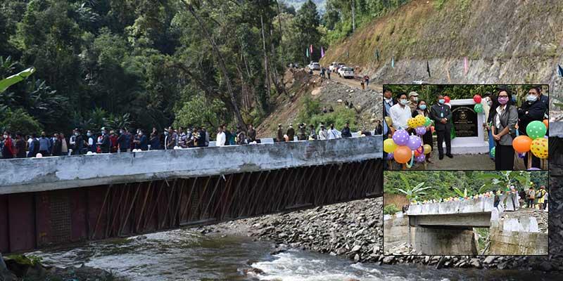 Arunachal:Bamang Felix inaugurates two bridges in Nyobia and Sangram