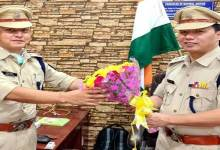 Itanagar Capital SP Tumme Amo hands over charge to Jimmy Chiram