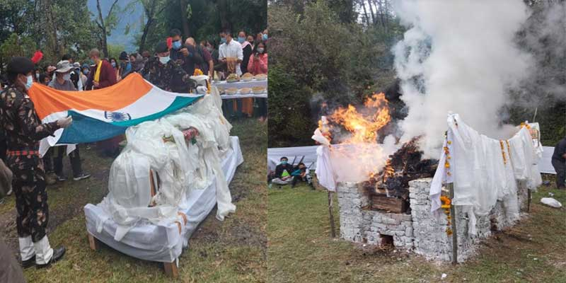 Arunachal: last rites of former Minister Tsering Tashi held in Khirmu
