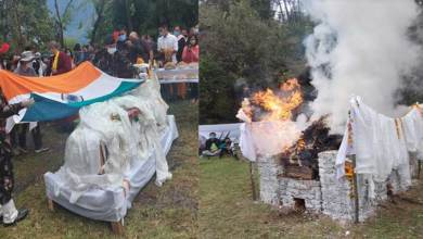Photo of Arunachal: last rites of former Minister Tsering Tashi held in Khirmu