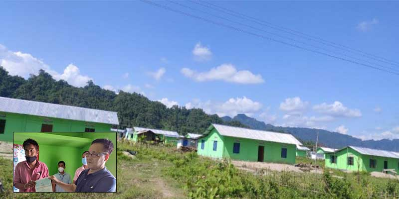 Arunachal: Ligu visits Rehabilitation and Resettlement village at Hollongi