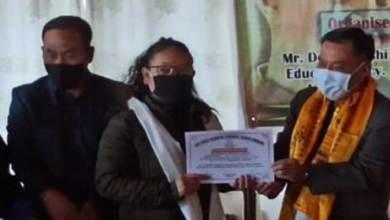 Arunachal: AWKSU felicitates topper of Class X and XII