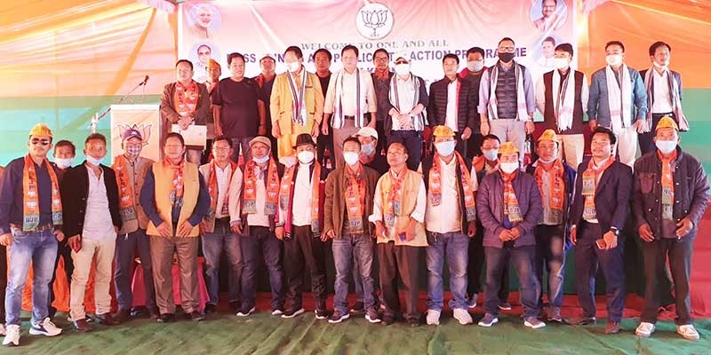 Arunachal: Congress, NPP and other party's workers join BJP