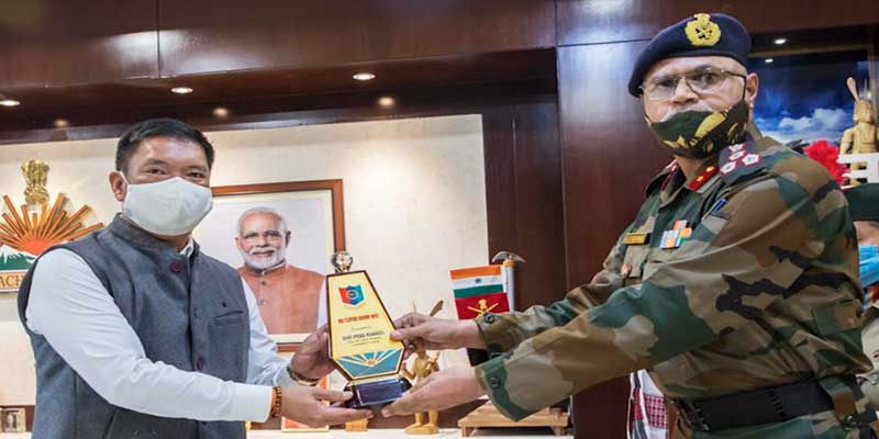 Arunachal: NCC Group Commander called on CM Pema Khandu