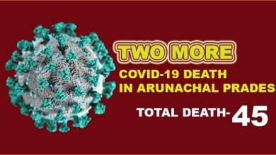 Arunachal Pradesh reports two more Covid-19 death, 64 fresh cases