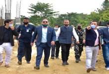 Arunachal: Mama Natung visits Dorjee Khandu Badminton Academy