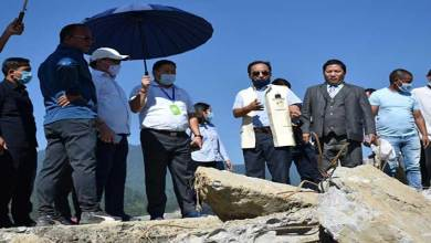 Itanagar: Nabam Rebia visits abandoned Railway bridge near Borum