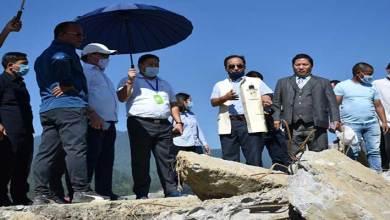 Itanagar: Nabam Rebia visits abandoned Railway bridge near Borum