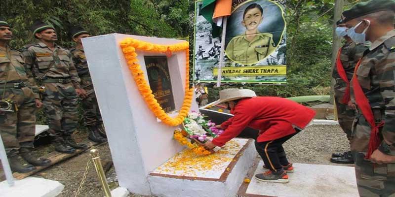 Arunachal: Army, Locals commemorate 'Shere Thapa Martyrdom Day'