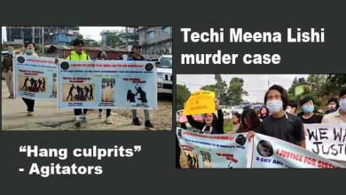 "Techi Meena Lishi murder case:  agitators reverberate chants of ""Hang culprits"""