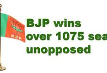 Arunachal Panchayat Election: BJP wins over 1075 seats unopposed