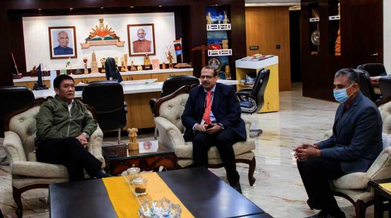 Arunachal: NHIDCL MD calls on Chief Minister Pema Khandu