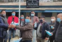 Arunachal: DDSE distributes Masks, Hand sanitizers, thermal scanners, football, etc in various schools of Lower Subansiri