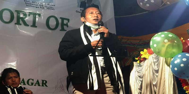 Itanagar: JDU will win the IMC polls, claims Senchumo Lotha