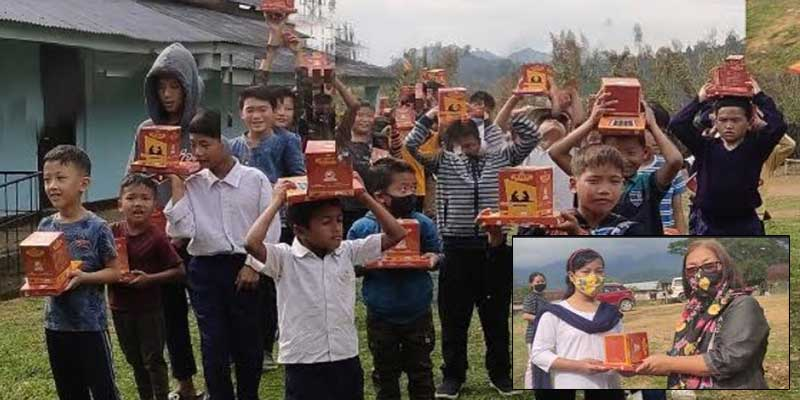 Arunachal: APEDA distributes Solar Study Lamp to students