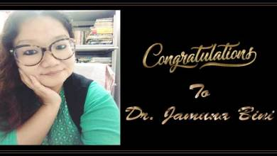 Arunachal: Dr. Jamuna Bini conferred'Vishwa Hindi Seva Samman'