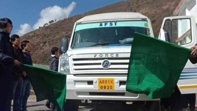 Arunacha : Jambey Tashi flags off mini school bus for lungla students