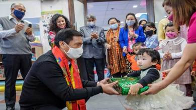 Itanagar- Pema Khandu inaugurates Creche at Civil Secretariat