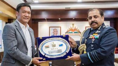 Arunachal:  IAF Chief Calls On CM Pema Khandu