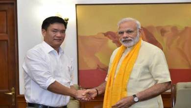 CM Pema Khandu calls on PM Modi