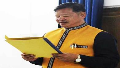 Itanagar- Tame Phassang takes oath as Mayor of IMC