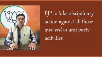 Arunachal: BJP to take disciplinary action against all those involved in anti party activities
