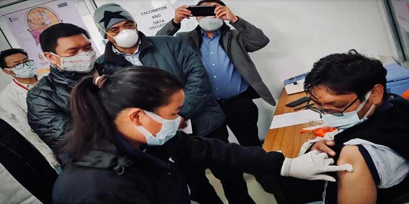 Arunachal: Dr Thutan Tsering, the first person who recieved Corona vaccine in Tawang