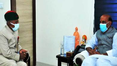 Arunachal Governor meets the Defence Minister, discusses various issues