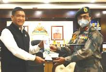 Itanagar- ADG NCC calls on CM Pema Khandu