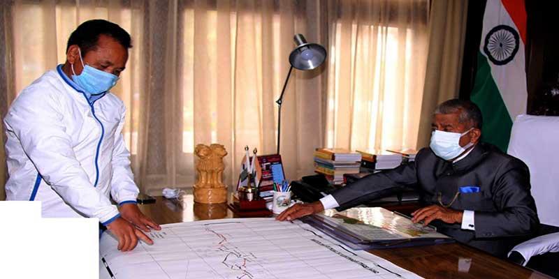 Arunachal: Governor reviews the progress of Miao-Vijoynagar Road