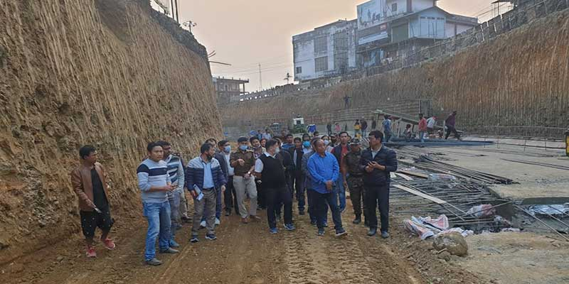 Itanagar: Techi Kaso, Highway authorities inspect underpass at Bank Tinali