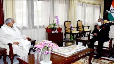 Arunachal:Union MoS Rattan Lal Kataria calls on the Governor B D Mishra