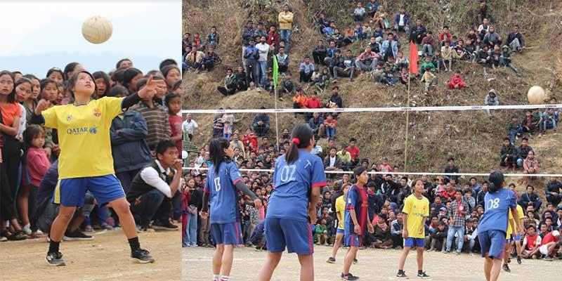 Arunachal: Circle Level Volleyball Tournament 2021 at Pongchau inLongding