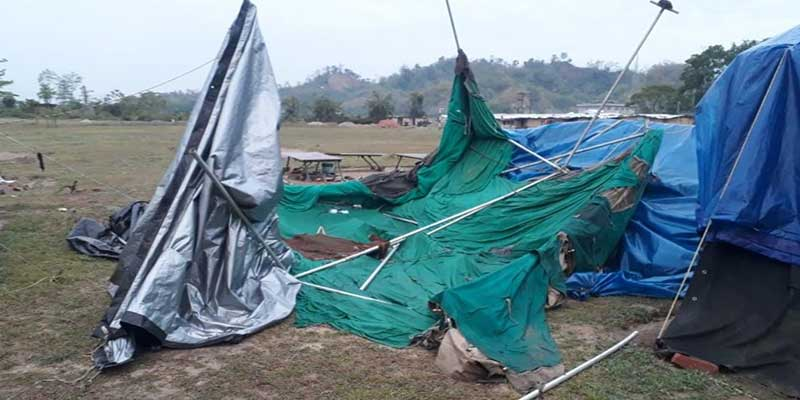 Arunachal: Rainstorm left trail of destruction at 12 NDRF camp at Hollongi