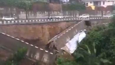 Itanagar- Part of NH-415 collapses after heavy rain