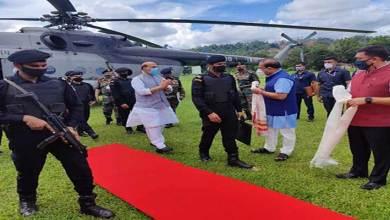 Arunachal: Rajnath Singh inaugurates Kimin-Potin Road
