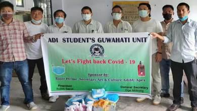 Arunachal: AdiSU, Guwahati unit distributes face mask and hand sanitizers