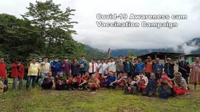 Arunachal: Covid-19 Awareness cum Vaccination Campaign held at remote villages under Chambang circle