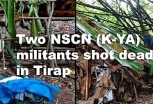 Arunachal: Two NSCN (K-YA) militants shot dead in Tirap