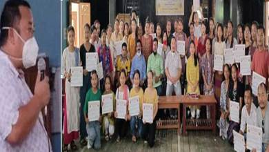 Arunachal:NYP skill development training programme Concludes at Nampong