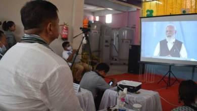 IMC Mayor and TRIHMS staff witness PM Modi's dedication ceremony of 35 PSA Oxygen Plants
