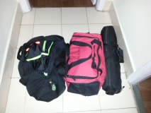 Emergency evacuation bags and tent is ready to go. We plan and prepare for the worst as we go about our work daily!