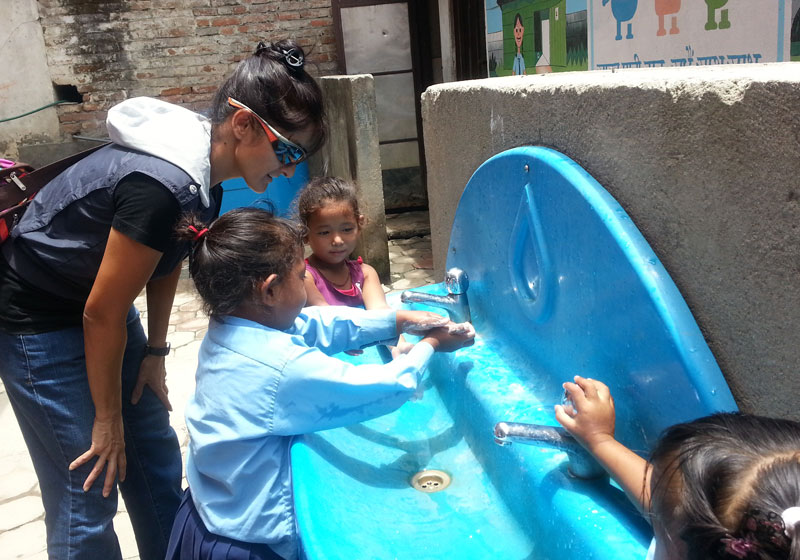 We donated soap, toothpaste and toothbrush as well.  These little one's really know how to scrub like a surgeon!