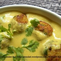 Recipe for a Creamy Kofta Curry ~ Bottle Gourd Dumplings in a Cashew Gravy