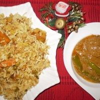 Leftovers from Christmas ~ Hyderabadi Vegetable Biryani and Mirchi ka Saalan Recipe
