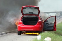 Fire under the car