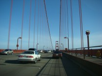 The 6 lane Freeway on the Bridge