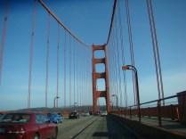 Driving on the Golden Gate Bridge