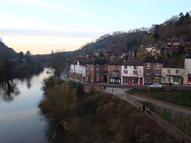 Iron Bridge town along River Severn